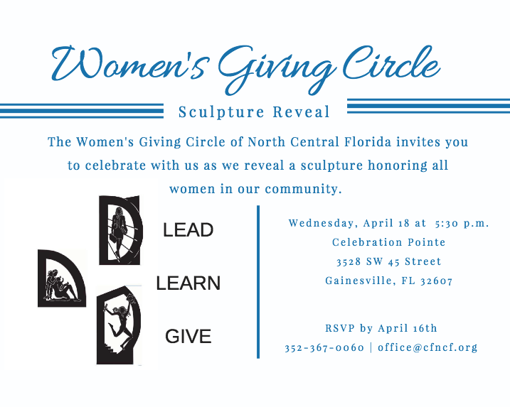 Women's Giving Circle Decade of Impact Sculpture Reveal